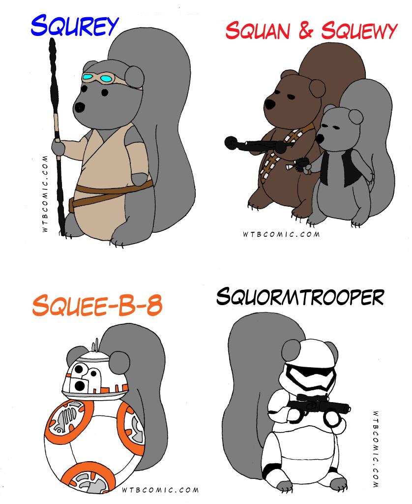 Rey Han Chewie BB8 Stormtrooper